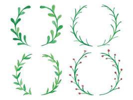 Watercolor Wreath Set