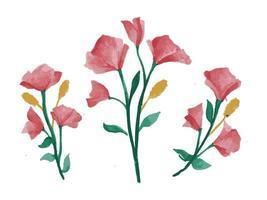 lindo floral em tinta aquarela