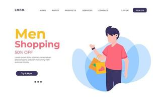 Men Shopping Landing Page