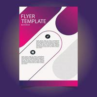 Gradient Pink and Purple Shape Flyer Template