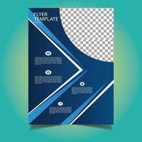 modèle de flyer commercial bleu vecteur