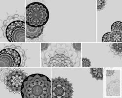 Gray, Black Mandala Design Background