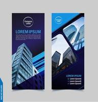 Business Flyer Template in Dark Blue
