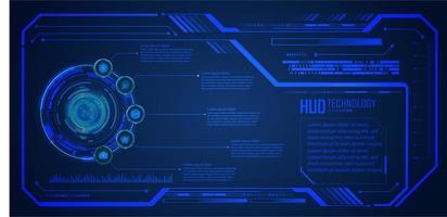 placa de circuito binario tecnología futura hud vector
