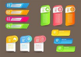 infográficos modernos de banner colorido