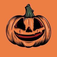 Hand drawn orange pumpkin vector