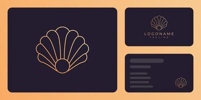 Pearl shell luxury business card template