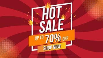 Hot Sale Fire Banner Template vector