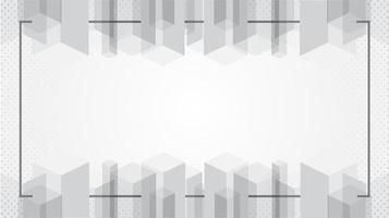 Abstract white modern texture wallpaper with frame vector