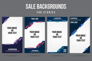 Trendy editable abstract social media story banners vector