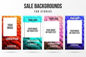 Trendy editable abstract story backgrounds vector