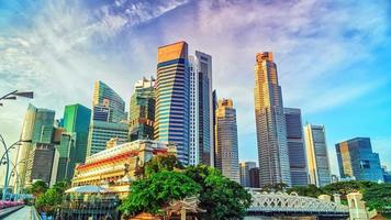 panorama do timelapse de Singapura.