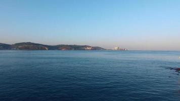 Tour de Belem au matin vue aérienne de Lisbonne video