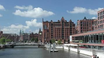 Canaux de Speicherstadt et musée maritime, Hambourg, Allemagne