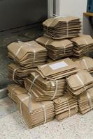 Stack of brown envelopes photo