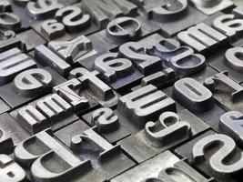 random letterpress photo