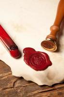 Closeup of wax seal