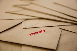 Approved sign on envelope