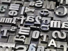 tipografía aleatoria foto