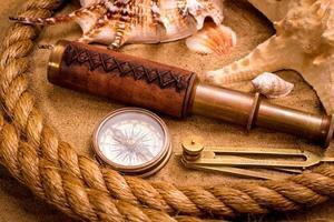 concepto de aventura marina vintage