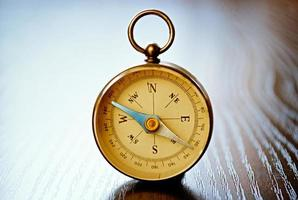 Magnetic handheld compass with copyspace photo