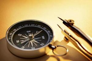 Old magnetic compass photo