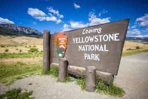'Leaving Yellowstone National Park' Sign