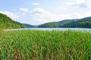 Parque nacional de los lagos de plitvice, croacia foto