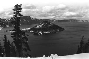 parque nacional del lago del cráter, oregon foto