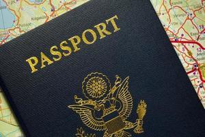 Passport the United States of America. photo