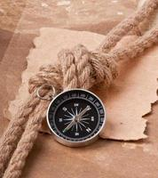 knot and compass on old paper background