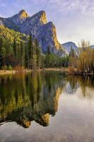 The Three Sisters sunrise at Yosemite National Park, CA photo