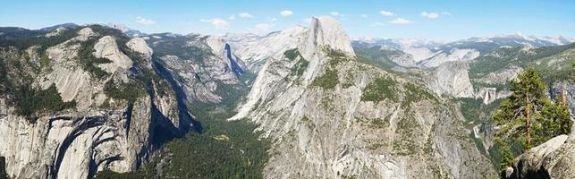 Panoramic view from Glacier point, Yosemite photo