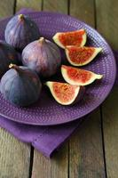 fresh and juicy figs on a platter photo