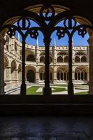Manueline cloister of Jeronimos monastery in Lisbon