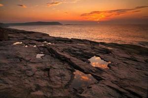 Sunrise, Acadia National Park, Maine, USA. photo