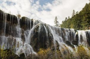 wonderful autumn in Huanglong national park photo