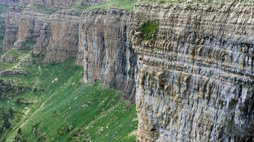 vertical cliffs in Ordesa National Park
