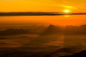 Sunrise at Phukradung National Park, Thailand photo