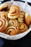 hot cinnamon rolls photo