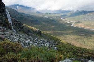 Valle de Rapa en el parque nacional de Sarek, Suecia