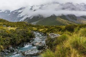 mount cook national park in new zealand photo