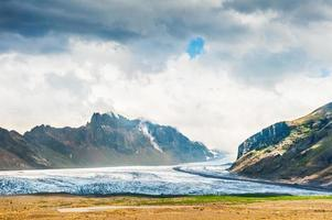 Vatnajokull glacier, Skaftafell national park in Iceland