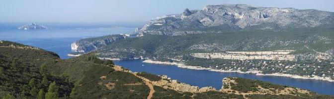 Landscape view of the Calanques National Park