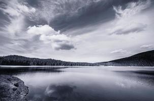 Black lake, Durmitor national park in Montenegro photo