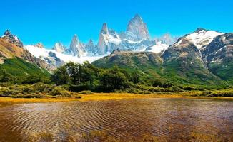 Patagonia landscape with Mt Fitz Roy in Argentina, South America