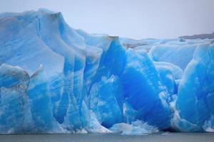 Gray glacier, Torres del Paine National Park, Patagonia, Chile photo