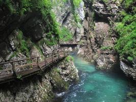 Garganta de Vintgar cerca de Bled.