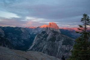 Shadow and Sunset Colors over Yosemite