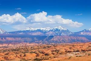 View of Mt Waas and Arches park plateau photo